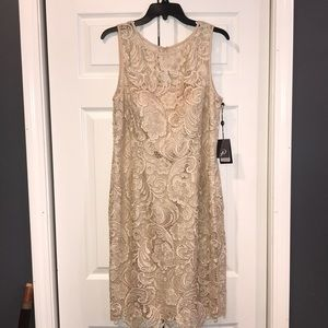 Adrianna Papell lace cocktail dress.